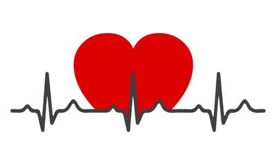 Heart pulse - stock vector