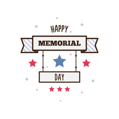 Happy Memorial Day. Vector illustration.