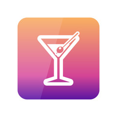 Martini. Cocktail outline icon. Summer. Vacation