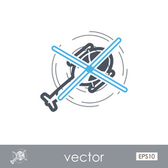 Helicopter outline icon. Summer. Vacation