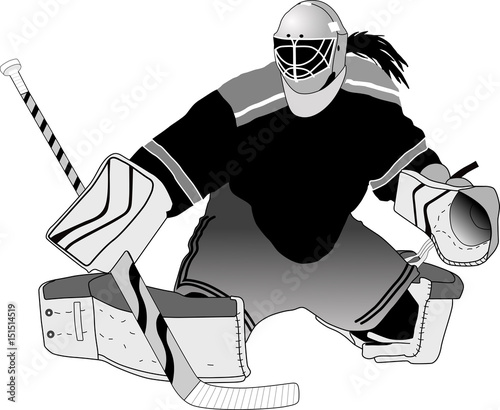 Female Hockey Goalie Making A Save Stock Image And Royalty Free