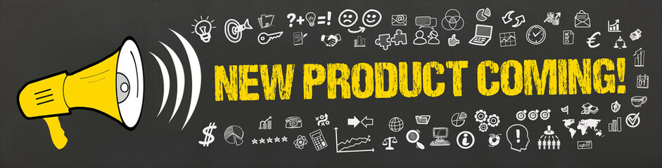 New Product Coming! / Megafon mit Symbole