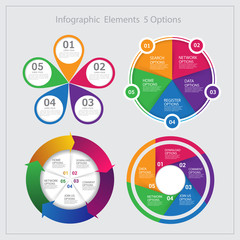 Set Modern infographics options banner. Vector.