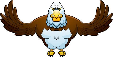 Cartoon Powerful Eagle