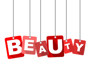 Red vector flat design background beauty. It is well adapted for web design.