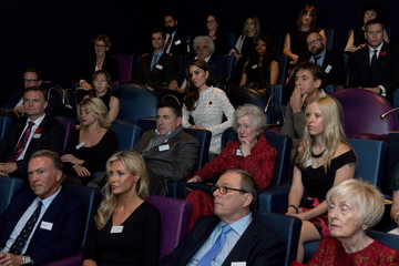 Britain's Catherine Duchess of Cambridge attends screening at Working Titles Office in London