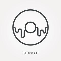 Line icon donut