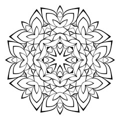 Beautiful mandala for the album. Symmetrical ornament in the cir
