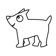 cute little dog mascot vector illustration design