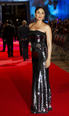 Bollywood actress Kareena Kapoor poses for photographers as she arrives for the premiere of RA.One in London