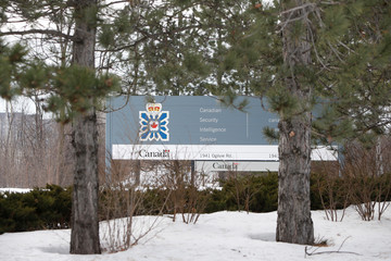 A sign is pictured outside the Canadian Security Intelligence Service (CSIS) headquarters in Ottawa