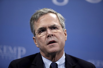 U.S. Republican presidential candidate Jeb Bush participates in a forum at the 2016 Kemp Forum on Expanding Opportunity in Columbia