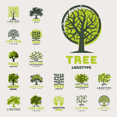 Tree outdoor travel green silhouette forest badge coniferous natural badge tops line spruce vector.