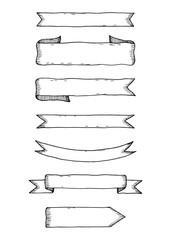 Ribbons sketch vector illustration
