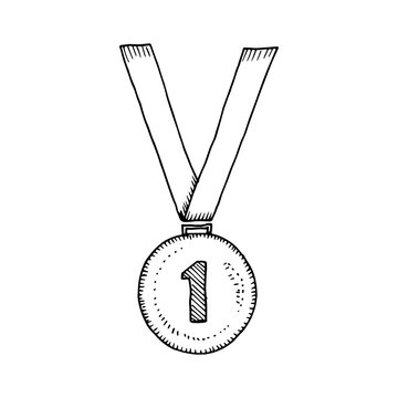Medal sketch vector illustration