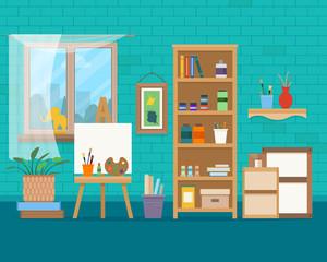 Art studio interior.