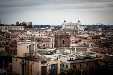 Rome city landscape in dusk light