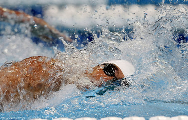 Phelps swims in the men's 200m freestyle final during the U.S. Olympic swimming trials in Omaha