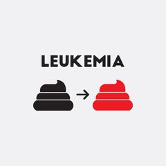 human feces Vector. various symptoms of leukemia on feces