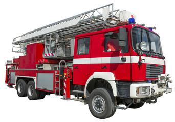 Feuerwehr, freigestellt, links