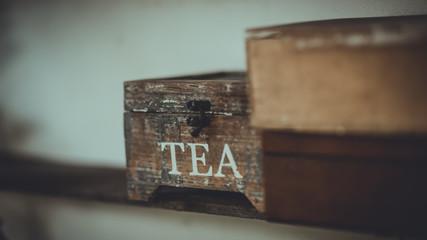 Wooden Tea Storage Chest Box