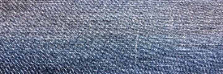 Old style textile. Denim design background. Industry fabric beautiful. Texture original denim pattern. Textile blue jeans denims. Super vintage jeans material. Denim macro.