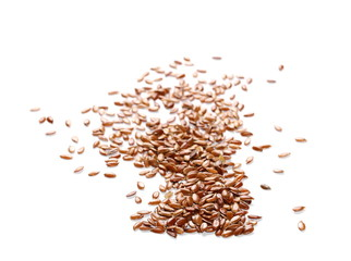 Flaxseed isolated on white background