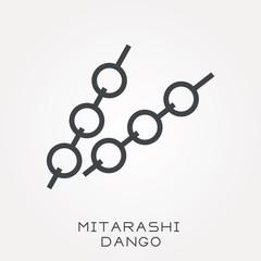 Line icon mitarashi dango