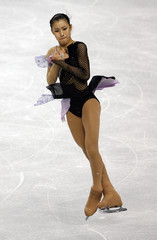 Murakami of Japan performs in the ladies free skate during Skate America figure skating competition in Portland