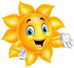 Cartoon sun character