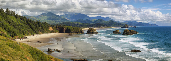 Zelfklevend Fotobehang Kust Cannon Beach in Oregon