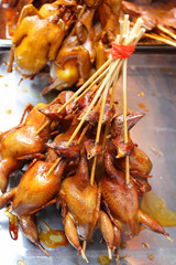 Grilled chicks in Shanghai