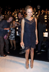 Actress Malin Akerman arrives to attend the 2012 Project Runway show during New York Fashion Week