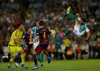 Football Soccer - Real Betis v Barcelona- Spanish Liga BBVA