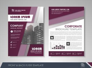 Abstract presentation brochure flyer template