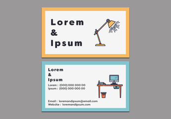 Bordered Business Card Layout