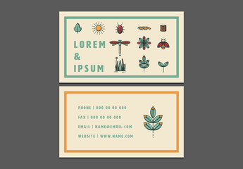 Nature Themed Business Card Layout