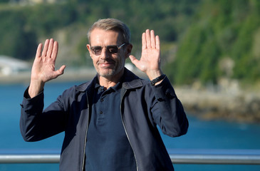 Actor Lambert Wilson takes part in a photocall to promote the feature film L'Odyssee (The Odyssey) at the San Sebastian Film Festival