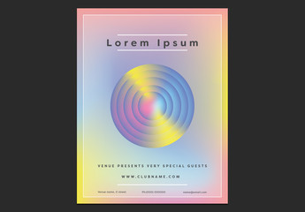 Pastel Gradient Poster Layout