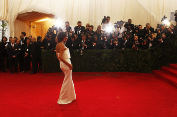Victoria Beckham arrives at the Metropolitan Museum of Art Costume Institute Gala Benefit in New York