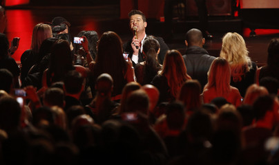 "Thicke performs ""Blurred Lines"" at The Grammy Nominations Concert Live - Countdown to Music's Biggest Night event at Nokia theatre in Los Angeles"