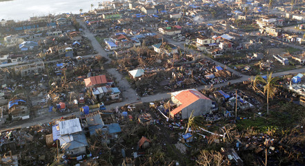 A view of the coastal town of Cateel that was devastated at the height of last Tuesday's Typhoon Bopha in Davao Oriental in southern Philippines