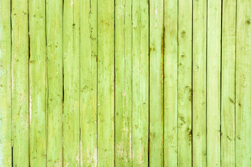 Green wooden wall texture as background