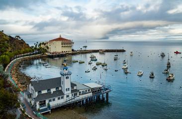 Avalon Bay and Casino on Catalina Island, California