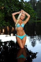 fairy girl in blue bikini