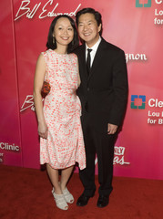 "Actor Jeong and his wife arrive for 16th annual Keep Memory Alive ""Power of Love Gala"" and 70th birthday celebration for Ali in Las Vegas"