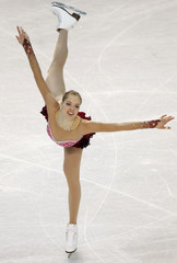 Carolina Kostner of Italy performs during the ladies short program at the European Figure Skating Championships in Tallinn