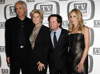 """Actors Michael Gross, Meredith Baxter, Michael J Fox and Tracy Pollan arrives at the """"TV Land Awards 2011"""" in New York City"""