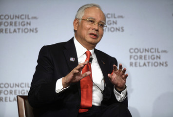 Prime Minister of Malaysia Razak speaks at Council of Foreign Relations during United Nations General Assembly in New York