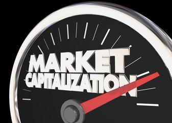 Market Capitalization Measure Company Value Stock Price 3d Illustration